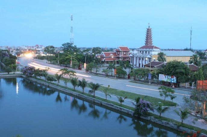 Huyện Hải Hậu phía Đông Nam tỉnh Nam Định