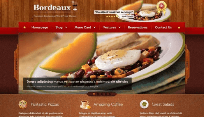 website nhà hàng